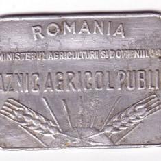 Placheta, perioada regalista-PAZNIC AGRICOL PUBLIC - Jubiliare