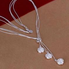 Colier argint - Colier superb argint 925; 44 cm lungime totala colier, 1.2 cm pandantiv