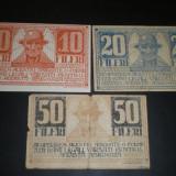Set asignate 10, 20, 50 fileri Timisoara 1919