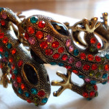 Bratara Fashion - Bratara cristale swarovski model șopârle
