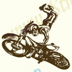 Tapet - Motociclist_Tatuaj De Perete_Sticker Decor_Cod:WALL-226-Dim: 25 cm. x 25 cm.