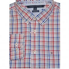 Camasa barbati Tommy Hilfiger, Maneca lunga - Camasa Tommy Hilfiger Men's Classic Fit Plaid Shirt rosie masura M si L