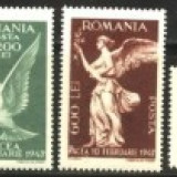 Timbre Romania, An: 1947, Nestampilat - Romania 1947 - PACEA, serie 4 valori nestampilata AA91