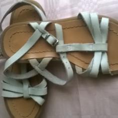 Vand sandale superbe piele BBup mar 27 - Sandale copii, Culoare: Alb, Fete, Piele naturala