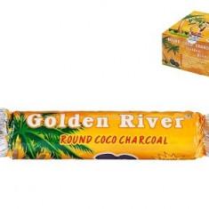 CARBUNI Golden River round coco charocal - Arome narghilea