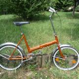 Bicicleta pliabile, 20 inch, 20 inch, Numar viteze: 1, Otel, Caramiziu - Bicicleta de oras reconditionata Puch