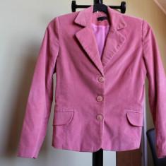 Sacou dama, Reiat - Sacou catifea reiata, culoare roz