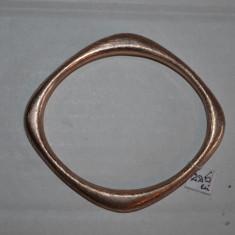 BRATARA - ARGINT 925 - Aurita cu aur roz - Moderna- Firma - Fixa - Deosebita !, Femei