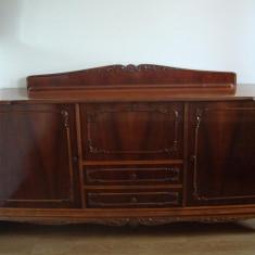 Set mobila living - Mobilier sufragerie lemn masiv nuc Madrigal