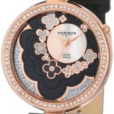 Akribos XXIV Women's AK601BK Lady Diamond | 100% original, import SUA, 10 zile lucratoare af22508 - Ceas dama