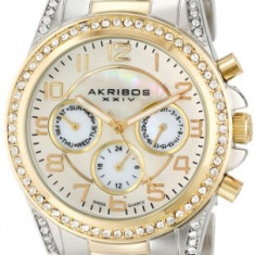 Akribos XXIV Women's AK683TTG Ultimate Two-Tone | 100% original, import SUA, 10 zile lucratoare af22508 - Ceas dama