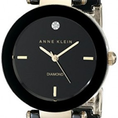 Anne Klein Women's AK 1018BKBK Black | 100% original, import SUA, 10 zile lucratoare af22508 - Ceas dama