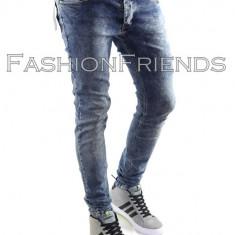 Blugi tip Zara fashion - blugi barbati blugi slimfit blugi conici - cod 5026, Marime: 33, Culoare: Din imagine