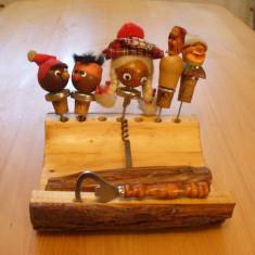 Lot dopuri pluta si lemn, set bar, confectionat manual, colectie inedita, Germania