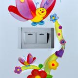 Sticker decorativ perete intrerupator,mobila,perete-autocolant  fluture