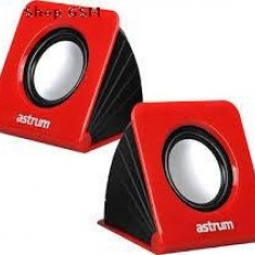 Astrum A130 2.0 CH Multimedia Speaker Rosu - Boxe PC