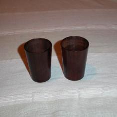 Doua paharele din lemn de abanos