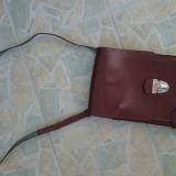 Geanta vintage piele masiva maro
