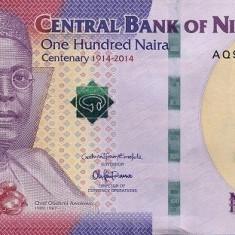 Nigeria 100 Naira 2014 - Nigeria's 100 Years of Existence, P-New UNC !!! - bancnota africa
