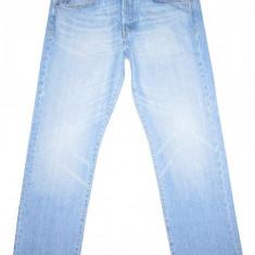 Blugi drepti H&M - (MARIME: W 33 / L 32) - Talie = 86 CM / Lungime = 107 CM - Blugi barbati H&m, Culoare: Albastru, Prespalat, Normal