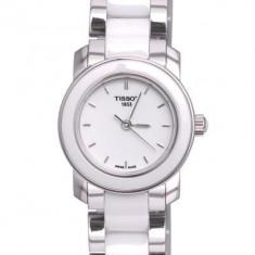 Ceas de dama Tissot Cera alb, Elegant, Quartz, Inox, Diametru carcasa: 28, Ceramica