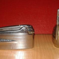 Bricheta metalica Ronson Varaflame de colectie + O bricheta ulcior - Bricheta de colectie