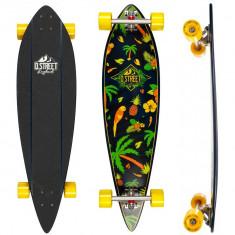 "Skateboard - Longboard D STREET Pintail Tropical 38""/97cm"