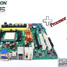 KIT Placa de Baza ASUS Pegatron DDR2 + PROCESOR AMD X2 + 5200B GARANTIE!, Pentru INTEL, AM2+, Contine procesor, ATX