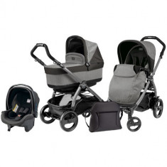Carucior 3 in 1 Book Plus 51 Black POP-UP Atmosphere - Carucior copii 2 in 1 Peg Perego