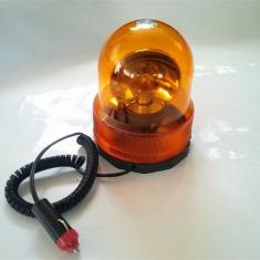 Girofar Auto - Girofar borcan 001 cu magnet 12V sau 24V portocaliu