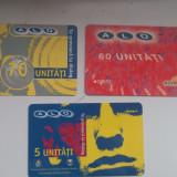 Lot 3 cartele colectie - reincarcare Alo Dialog 1999, 2001 - Cartela telefonica romaneasca