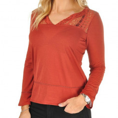 Bluza Only cu garnituri din dantela - art 15113564 caramiziu - Bluza dama Only, Marime: 36, 38, Culoare: Rosu