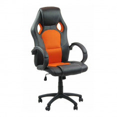 Scaun birou, Mesh+piele ecologica, Rosu - Scaun ergonomic de birou OFF 309