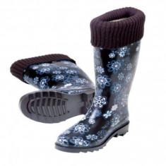 Cizme dama - Cizme de cauciuc pentru ploaie cu captusala Stocker marimea 37 albastru
