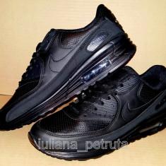 Adidasi barbati Nike, Piele sintetica - Adidasi nike air max negru impermeabil 90 hyperfuse nr. 44