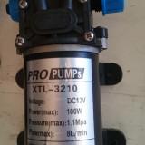 Gradinarit - Pompa 12V 100W cu presostat de inalta presiune (rulota, barca, dozator, etc.)