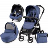 Carucior copii 2 in 1 Peg Perego - Carucior 3 in 1 Book Plus S Black Sportivo Bluette