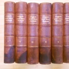 R. GARRAUD--TRATAT DE DREPT PENAL FRANCEZ - 6 VOL. - COTOR PIELE - 1898-1902 - Carte Drept penal