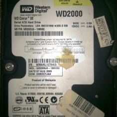 Hard Disk Western Digital, 100-199 GB, Rotatii: 7200, SATA, 8 MB - HDD Western Digital Caviar SE WD2000JS 200GB 7200 RPM 8MB Cache SATA 3.0Gb/s 3.5