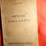 N.Parvu - Metoda Evaluarii - Ed. 1942 -Ed. Inst. Psihologie al Universitatii Cluj - Carte Psihologie