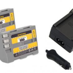Baterie Aparat foto - 1 PATONA | Incarcator + 2 Acumulatori pt Nikon EN EL3e ENEL3e ENEL3 EN EL3 D200