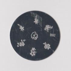 Unghii cu modele - Matrita metalica pt modele unghii, pt stampila, disc matrita metal, model B92