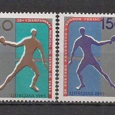 Iugoslavia.1965 C.M. de tenis de masa SI.353 - Timbre straine