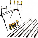 Combo Pescuit Crap Lansete Oxygen Carp Expert 3.6 m 4 LBS Rod Pod Full Echipat