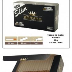 Foite tigari - 1.200 tuburi de tigari Slim Korona pentru injectat tutun
