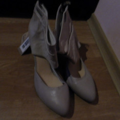 Pantofi Diesel stil gladiator - Pantof dama Diesel, Marime: 39, Culoare: Bej, Piele naturala