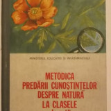 Carte Biologie - Virginia Todor, s.a. - Metodica predarii cunostintelor despre natura la clasele I-IV (manual, 1988)