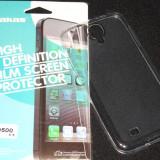 Husa Protectie Silicon Ultra Slim 0, 3 mm Samsung Galaxy S4 + Folie CADOU!!! - Husa Telefon Samsung, Transparent