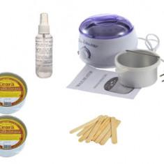 Kit Pro Wax 100 cu Ceara Depilatoare, Spatule si Ulei calmant - Ceara epilare