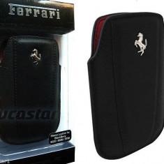 Husa originala Ferrari Modena Blackberry 8520 8900 9700 9360 - Husa Telefon Ferrari, Negru, Piele